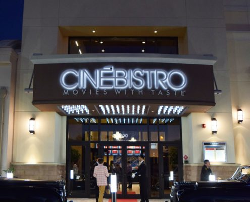 Entrance Cinebistro Siesta Key Doral